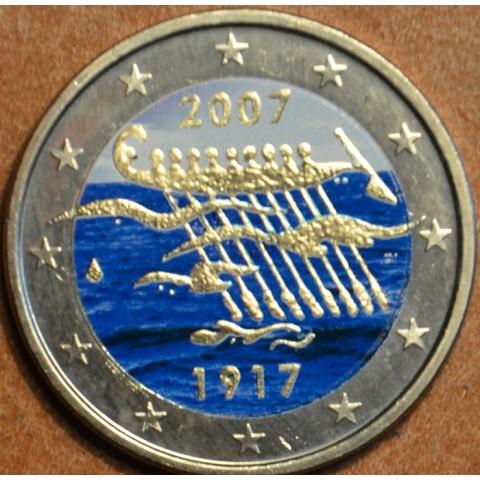 2 Euro Fínsko 2007 - 90. výročie nezávislosti Fínska II. (farebná UNC)