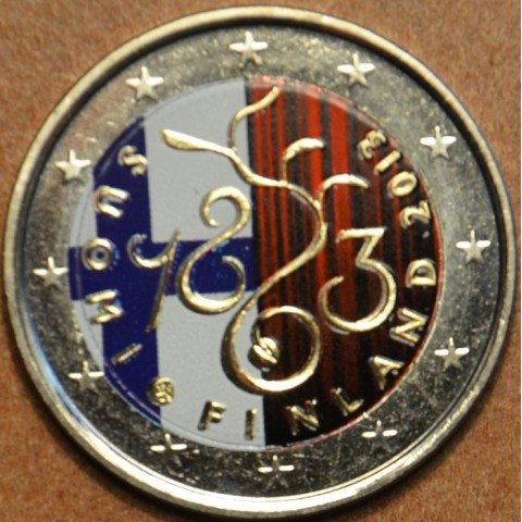 2 Euro Finland 2013 - 150th Anniversary of Parliament of 1863 IV.  (colored UNC)
