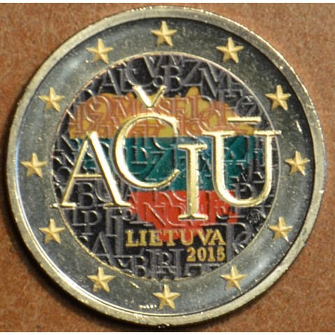 2 Euro Lithuania 2015 - Aciu: lithuanian language IV. (colored UNC)