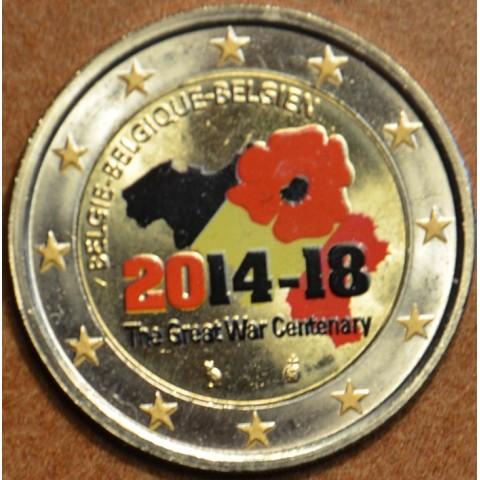 2 Euro Belgicko 2014 - 100. výročie prvej svetovej vojny II. (farebná UNC)
