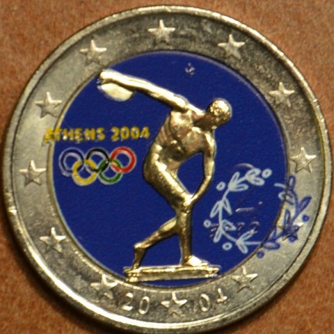2 Euro Greece 2004 - Olympic games in Athen 2004 II. (colored UNC)
