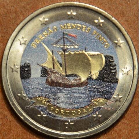 2 Euro Portugal 2011 - 500th annivesary of the birth of Fernão Mendes Pinto III. (colored UNC)