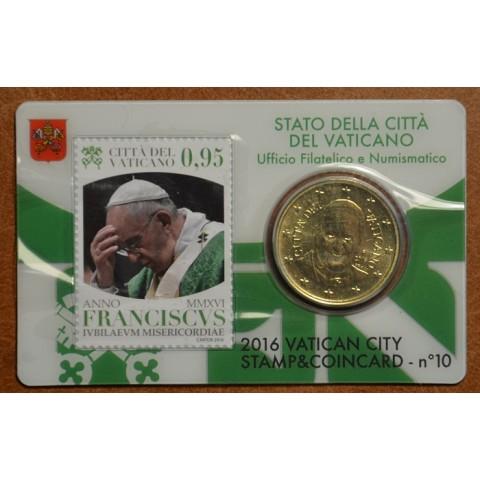 50 cent Vatikán 2015 oficiálna karta so známkou No. 9 (BU)