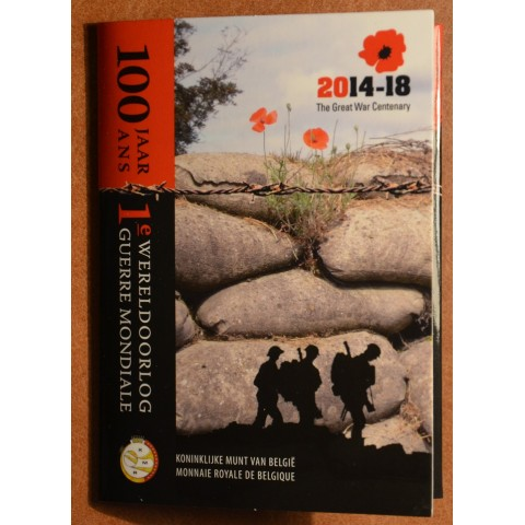 2 Euro Belgicko 2014 - 100. výročie prvej svetovej vojny (BU karta)