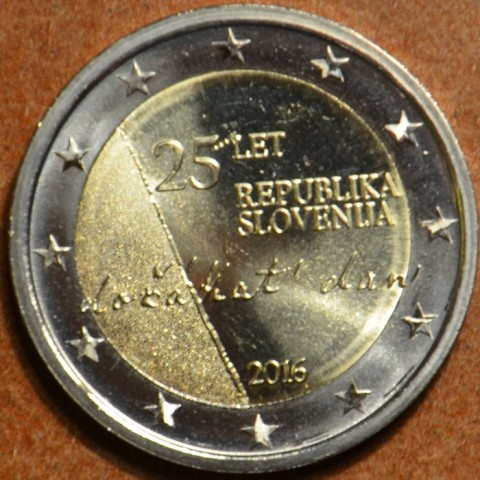 2 Euro Slovenia 2016 - The 25th anniversary of independence of Slovenia  (UNC)