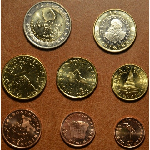 Set of 8 coins Slovenia 2007 (UNC)