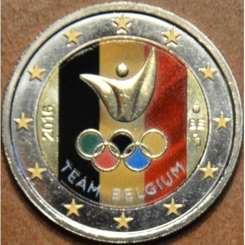 2 Euro Belgicko 2016 - Olympijský team Belgicka III. (farebná UNC)