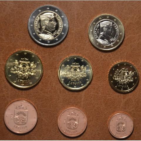 Set of 8 eurocoins Latvia 2015 (UNC)