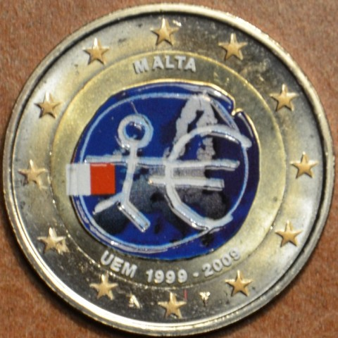 2 Euro Malta 2009 - 10th Anniversary of the Introduction of the Euro (colored UNC)