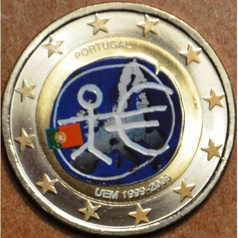 2 Euro Portugal 2009 - 10th Anniversary of the Introduction of the Euro (colored UNC)