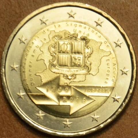 2 Euro Andorra 2014 - 25th anniversary of the Signature of the Customs Agreement with the European Union (UNC)