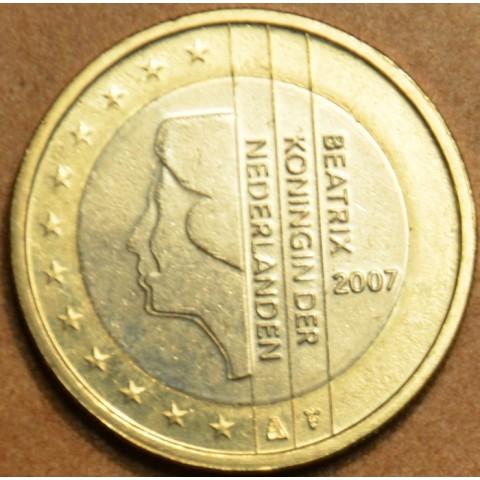 1 Euro Holandsko 2007 - Kráľovná Beatrix (UNC)