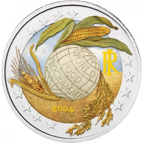 2 Euro Italy 2004 - Fifth Decade of the World Food Programme II. (colored UNC)