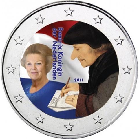 2 Euro Holandsko 2011 - 500. výročie Erasmovej slávnej knihy II. (farebná UNC)