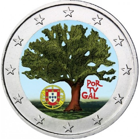2 Euro Portugal 2007 - Portuguese Presidency of the Council of the European Union II. (colored UNC)