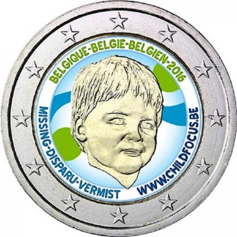 2 Euro Belgicko 2016 - Dieťa v núdzi (farebná UNC)