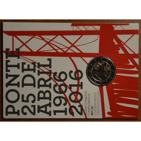 2 Euro Portugal 2016 - 50 years of the first bridge uniting the two riverbanks of the Tejo River (BU card)