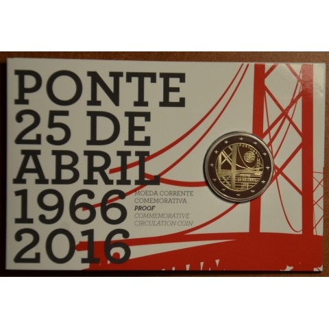 2 Euro Portugal 2016 - 50 years of the first bridge uniting the two riverbanks of the Tejo River (Proof)