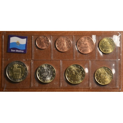 Set of 8 eurocoins San Marino 2006-2013 (UNC)