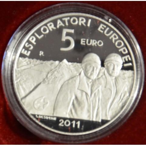5 Euro San Marino 2011 - European explorers (Proof)