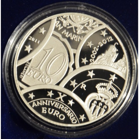 10 Euro San Marino 2011 - 10 years of Euro (Proof)