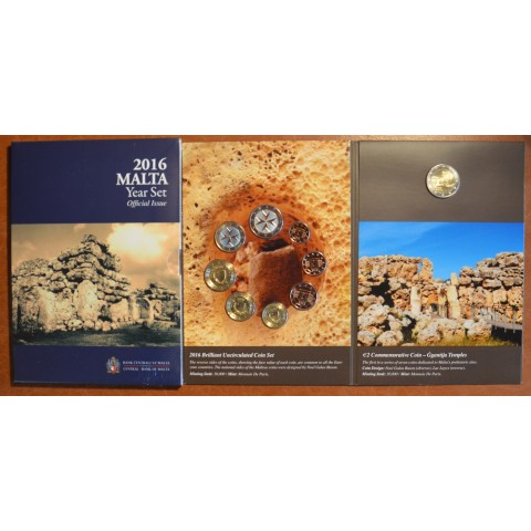 Set of 9 Euro coins - Malta 2016 (BU)