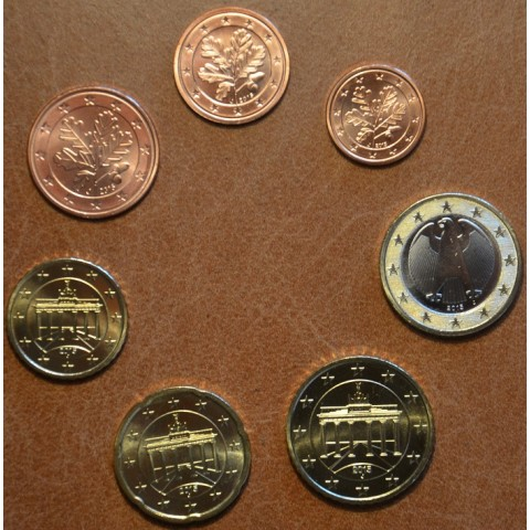 """Set of 7 coins Germany 2015 """"F"""" (UNC)"""