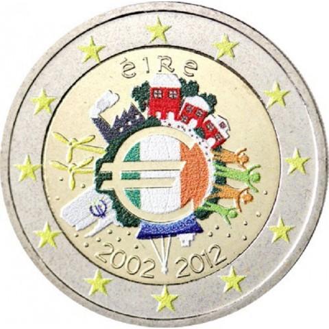 2 Euro Ireland 2012 - Ten years of Euro II.  (colored UNC)