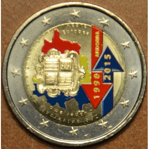 2 Euro Andorra 2015 - 25th anniversary of the Signature of the Customs Agreement with the European Union (colored UNC)