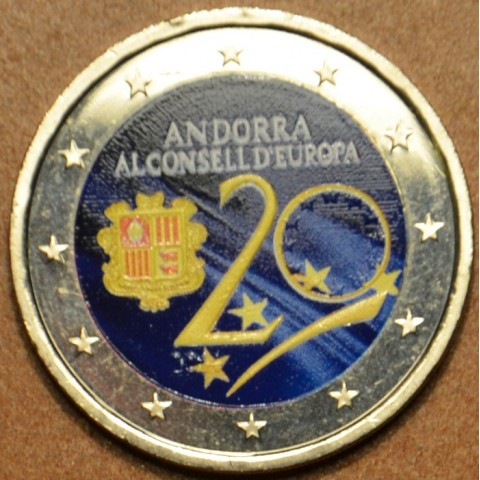 2 Euro Andorra 2014 - Admission to Council of Europe IV.  (colored UNC)