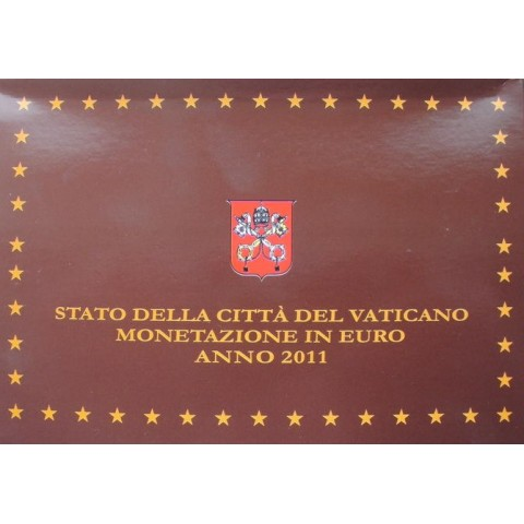 Official 8 coins set of Vatican 2011 + Ag medal (Proof)