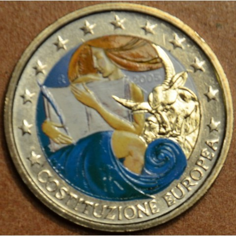 2 Euro Italy 2005 - 1st anniversary of the signing of the European Constitution colored II. (UNC)