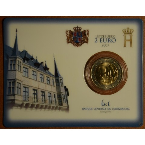 2 Euro Luxembourg 2007 - Grand Ducal Palace (BU card)