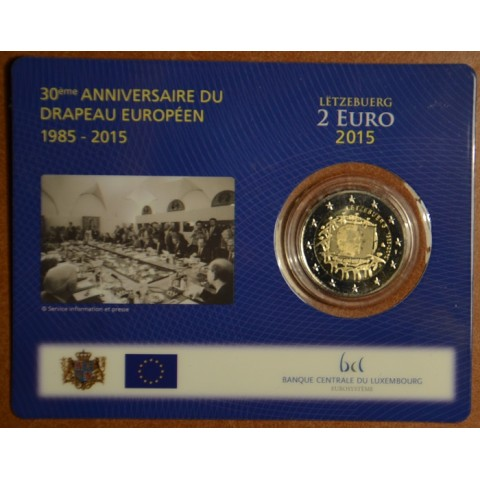 2 Euro Luxembourg 2015 - 30 years of European flag (BU card)