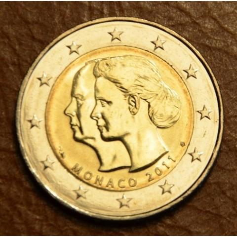 2 Euro Monaco 2011 - Svadba Princa Alberta a Charlene Wittstock (UNC)