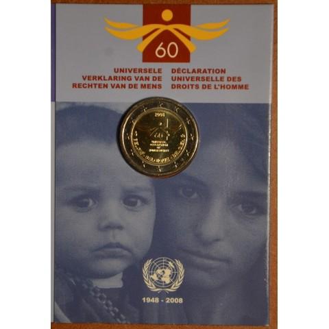 2 Euro Belgicko 2008 - 60. výročie Všeobecnej deklarácie ľudských práv (BU karta)