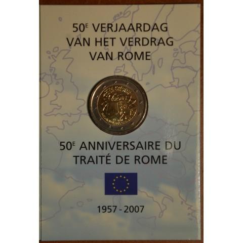 2 Euro Belgicko 2007 - 50 rokov Rímskej zmluvy (BU karta)