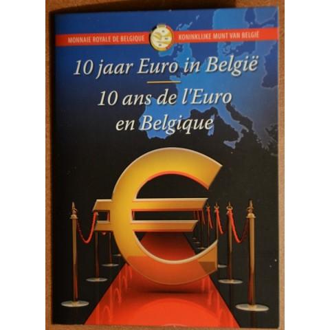 2 Euro Belgicko 2012 - 10. výročia vzniku Eura (BU karta)