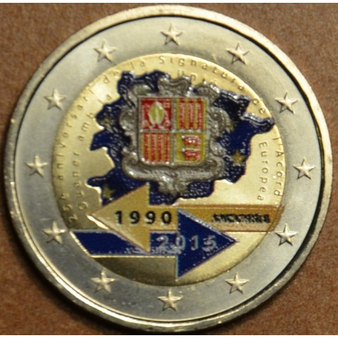 2 Euro Andorra 2015 - 25th anniversary of the Signature of the Customs Agreement with the European Union II. (colored UNC)