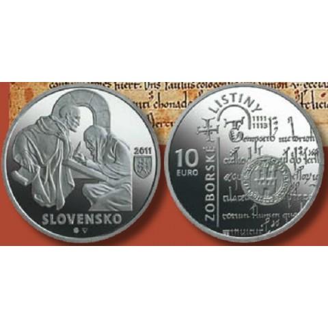 10 Euro Slovakia 2011 - Zobor deeds (BU)