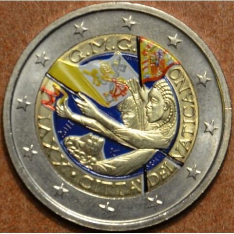 2 Euro Vatican 2011 - XXVI World Youth Day Madrid 2011 (colored UNC)
