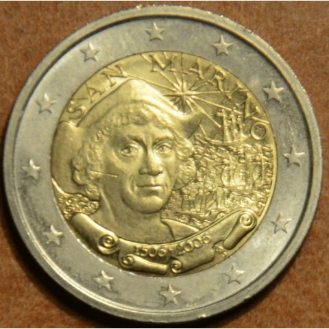2 Euro San Marino 2006 - 500th Anniversary of the Death of Christopher Columbus (wo folder)