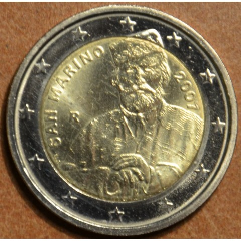 2 Euro San Marino 2007 - 200th Birthday of Giuseppe Garibaldi (wo folder)
