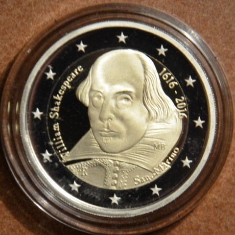 2 Euro San Marino 2016 - 400th anniversary of the death of William Shakespeare (Proof)