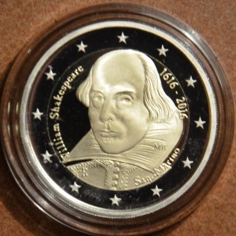 2 Euro San Marino 2016 - 400th anniversary of the death of William Shakespeare (Proof)
