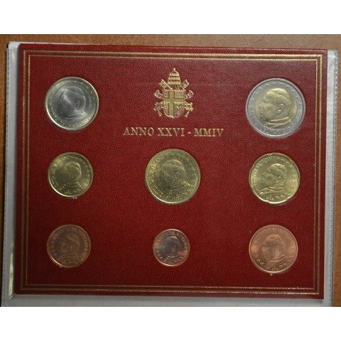Set of 8 eurocoins Vatican 2004  (BU)