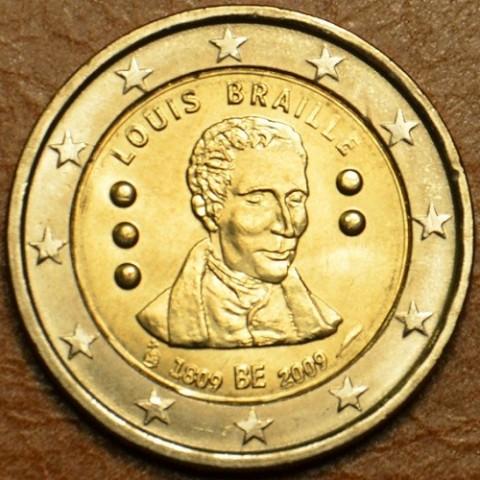 2 Euro Belgicko 2009 - 200. výročie narodenia Louisa Brailla (UNC)
