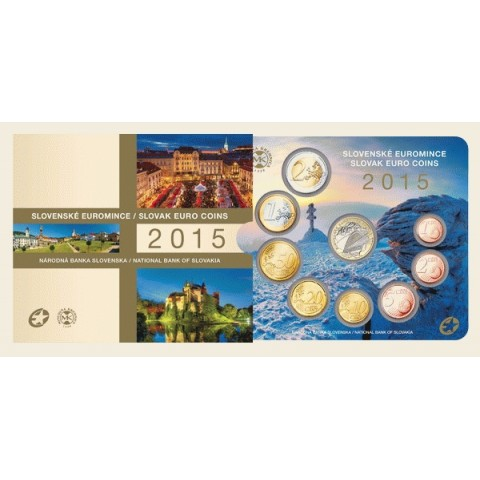 Set of 8 Slovak coins 2015 (BU)