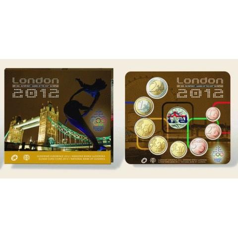 Set of 8 Slovak coins 2012 London (BU)