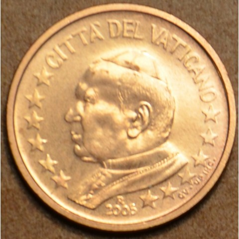 1 cent Vatican His Holiness Pope John Paul II 2005 (BU)